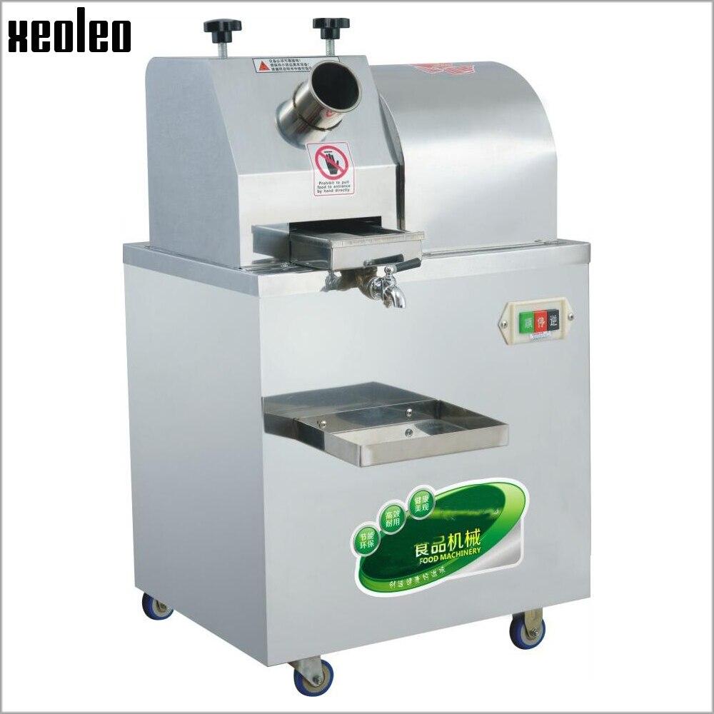 Xeoleo juicer de cana de açúcar comercial máquina da imprensa de cana de açúcar fabricante de suco de cana de açúcar 300 kg/h máquina de suco de aço inoxidável 220 v