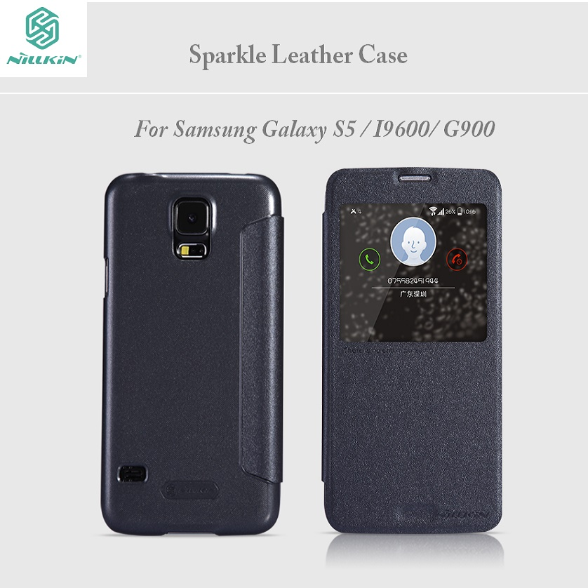Nillkin for Samsung Galaxy S5 case 5 1 inches Sparkle flip cover for Samsung S5 phone