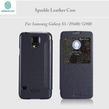 NILLKIN для Samsung Galaxy S5 Case 5.1 дюйм(ов) блеск Flip Cover для Samsung S5 Телефон Case S Для i9600 G900 protective Case