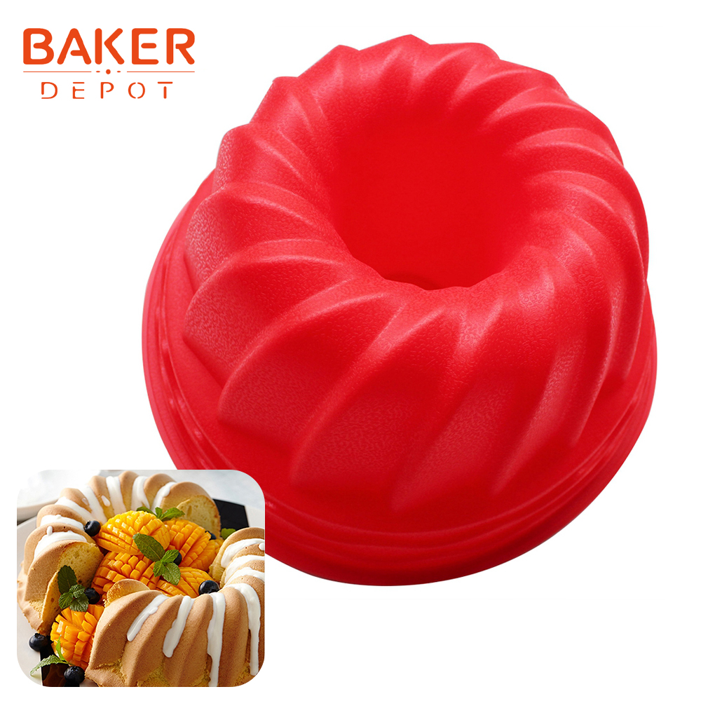 <font><b>BAKER</b></font> <font><b>DEPOT</b></font> big cake molds silicone pastry mold bread baking Tools DIY birthday cake moulds round shape bakeware bread <font><b>baker</b></font> image