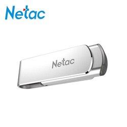 Netac metalowe Pendrive 3.0 16 GB 32 GB 64 GB 128 GB obrotowe dysku flash klucz wiolinowy USB 3.0 U388 Pendrive LOGO typu c Pen Drive brelok USB