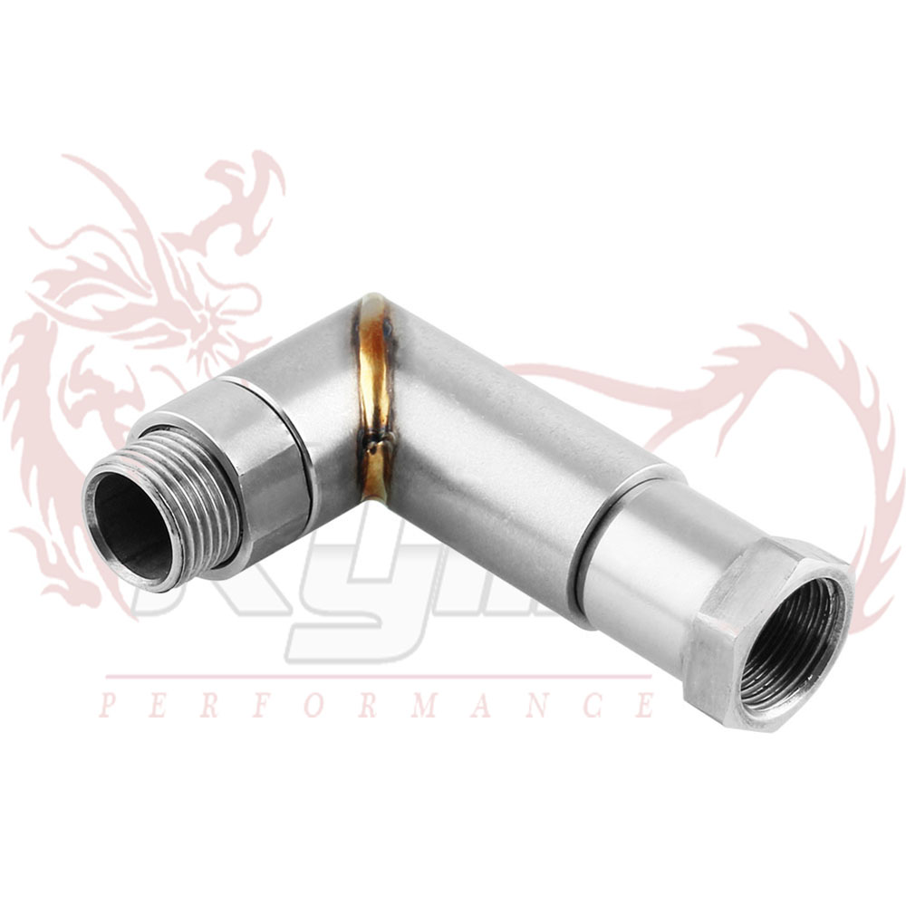 Women O2 Oxygen Sensor 90 Degree Bung Extension Angled Extender Spacer Adapter M18x1.5 Tp074 Suitable For Men And Children