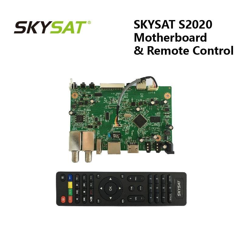 Skysat S2020 Motherboard Mainboard Card With Remote Control For Brazil Peru Argentina Ecuador Bolivia