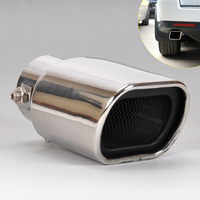 1Pc Car Universal Straight Stainless Steel Exhaust Tail Rear Muffler Tip Pipe For VW Nissan Peugeot