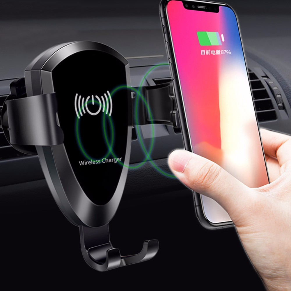 Cell Phone Wireless Charger For Car Universal Gravity Car Air Vent Mount Holder for iPhone 8 X Samsung S7 S8 S9 Phone Charger