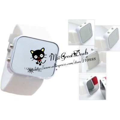 Mirror Men Lady LED Digital Sport Unisex Watch Gift