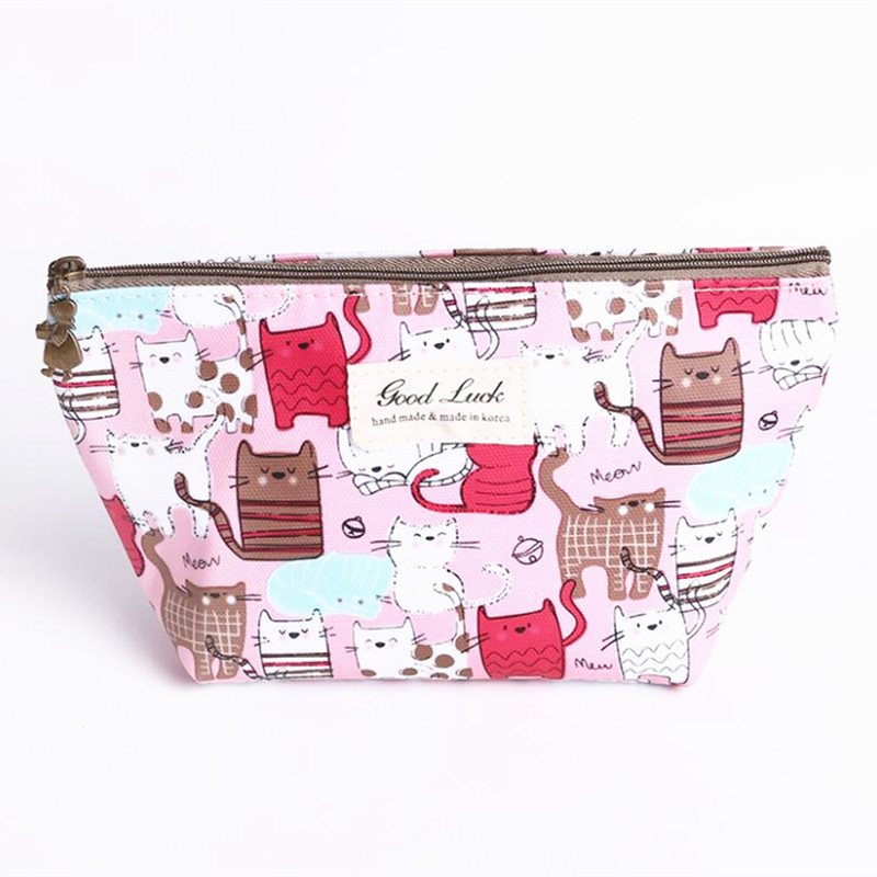 M498 Creative Cosmetic Bag Cartoon Pattern Animal Cat Elephant Fish Cute Bag Waterproof Material Women Girl Gift Wholesale