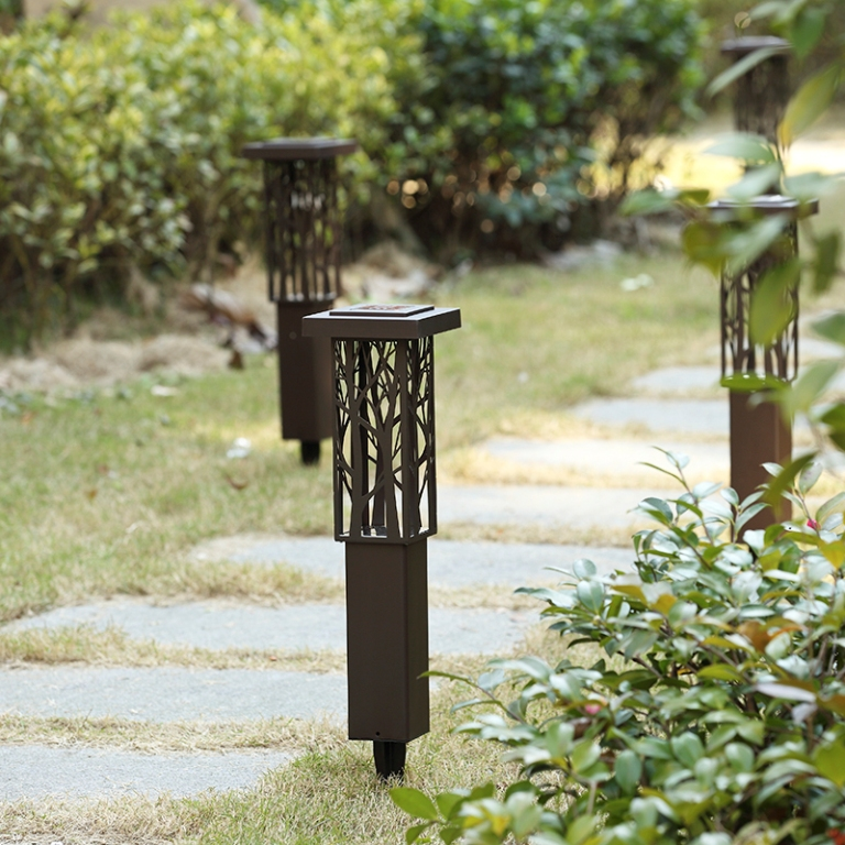 Stainless Steel solarlampen Spike Light Hollow Engraving Landscape Garden Path Lawn Solar Lamps Outdoor Grounding Sun Light stainless steel solarlampen spike light hollow engraving landscape garden path lawn solar lamps outdoor grounding sun light