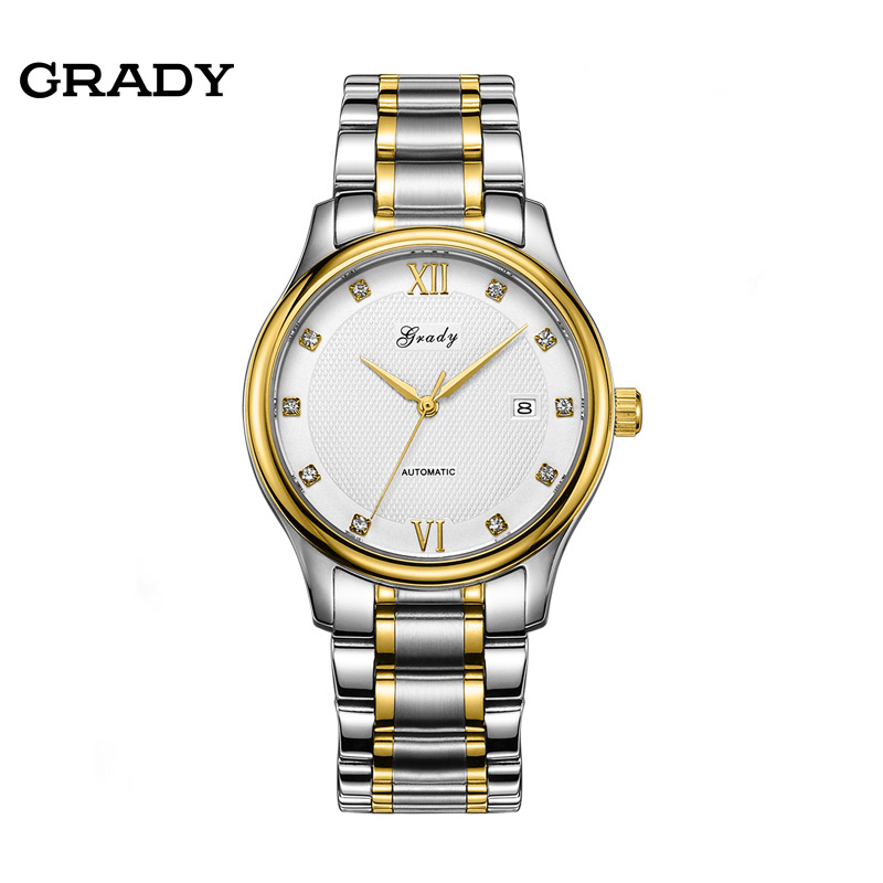 Brand GRADY Mens watches Automatic mechanical watch tourbillon clock leather Casual business wristwatch relojes hombre 2017 luxury brand lovers watches men women automatic mechanical watch fashion casual clock male wood wristwatch relojes hombre