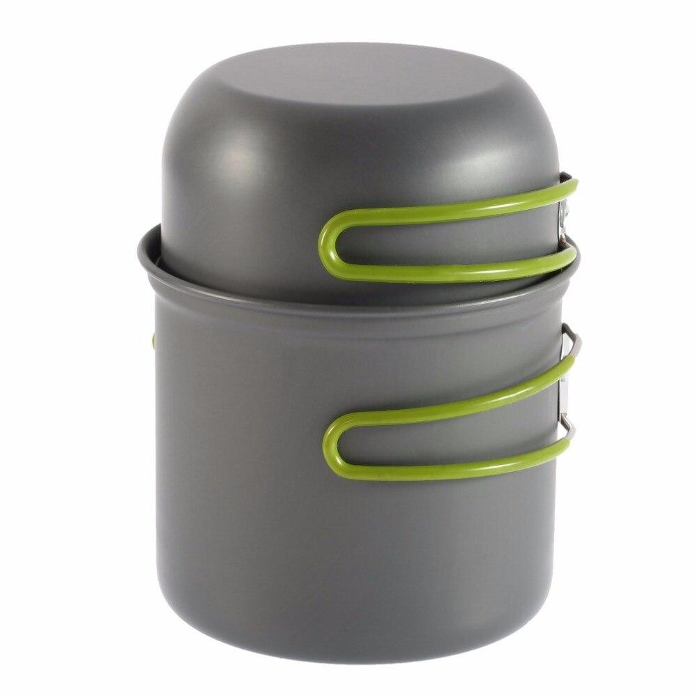 Franco Picnic Bowl Pot Leggero 2 Pz/set In Lega Di Alluminio Pentolame E Utensili Per Cucinare Pieghevole Per Esterni Maniglie Pan Di Campeggio Escursionismo Zaino In Spalla Cooking