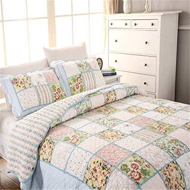 simple quilts aliexpress countryside bedding pillowcases set quilted in bedspread quilt new bedspreads queen on article com pattern from item garden home