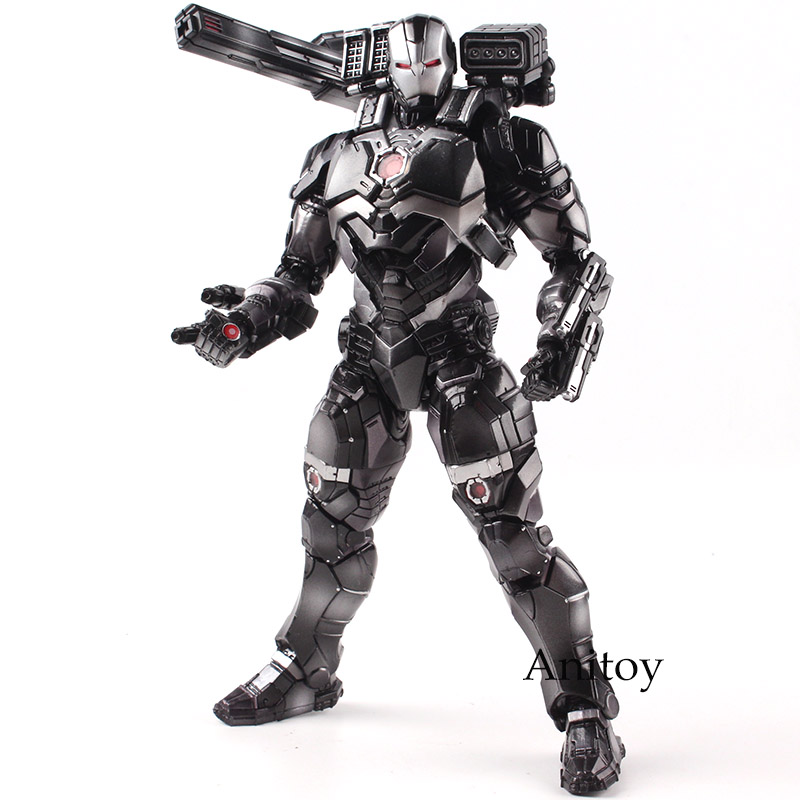 Marvel Universe Variant Play Arts Kai Action Figure War Machine Action Figure PVC Marvel Toys Collectible Model Toy 25cm