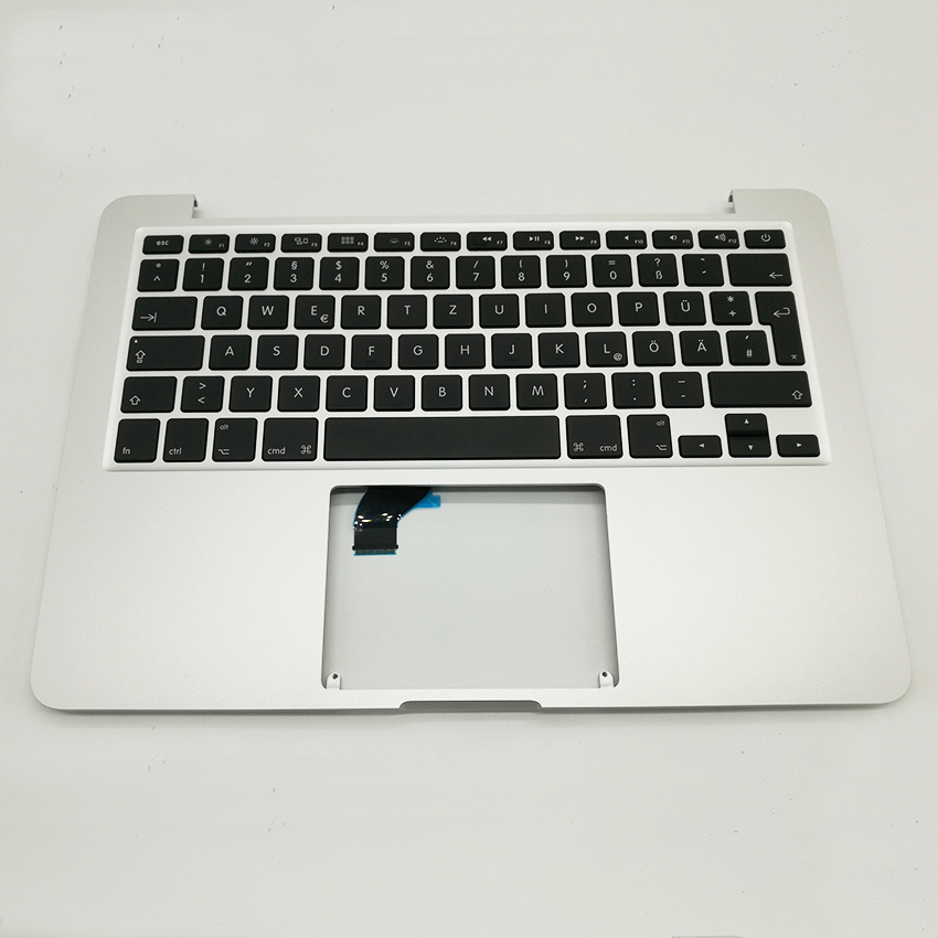 Brand New A1502 Topcase with GR German keyboard For MacBook Pro Retina 13 Top Case 2015 2016 Years 10pcs lot brand new lcd screen rubber frame ring for macbook pro 13 retina a1502 a1425 2012 2013 2014 2015 year