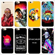 Macs Miller Rap King Hard Clear Phone Case Cover For Samsung s8 s9plus S6 S7Edge S5 for iPhone 7 6s 8plus 5s 5c 4S X XS XR XSMAX customized diy phone case printed hard clear cover case for apple iphone x xs 8 8plus 7 6splus se 5 for samsung s8 s8plus s7 s6