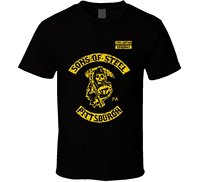 LEQEMAO 2017 FashionT Shirt Bandit Sons Of Steel Pittsburgh Curtain Steelers SOa Reaper Footballer Cotton O