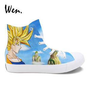 Wen Sneakers Shoes Skateboarding Dragon-Ball Hand-Painted Custom High-Top Anime Boy Male