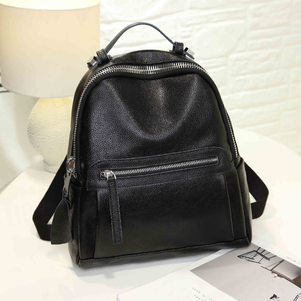 Autumn and winter new leather Korean wave embossed shoulder bag ladies bag small school bag