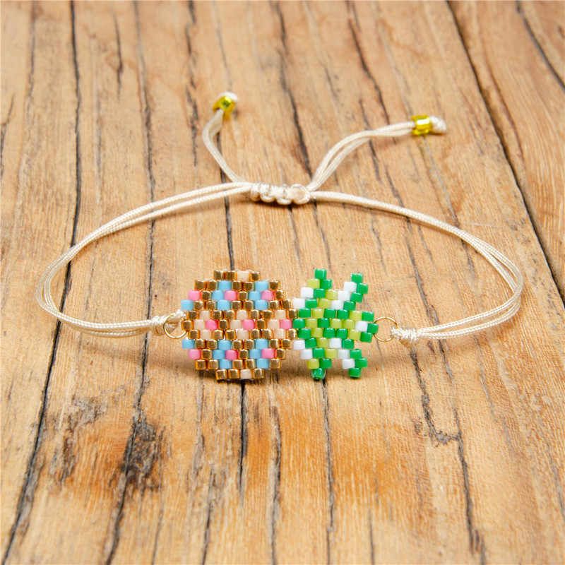SHINUSBOHO Fruit Bracelet Hand-knitted Pineapple MIYUKI Bracelet Women Two-layer Rope Chain Jewelry Men Bestfriend Gift pulsera