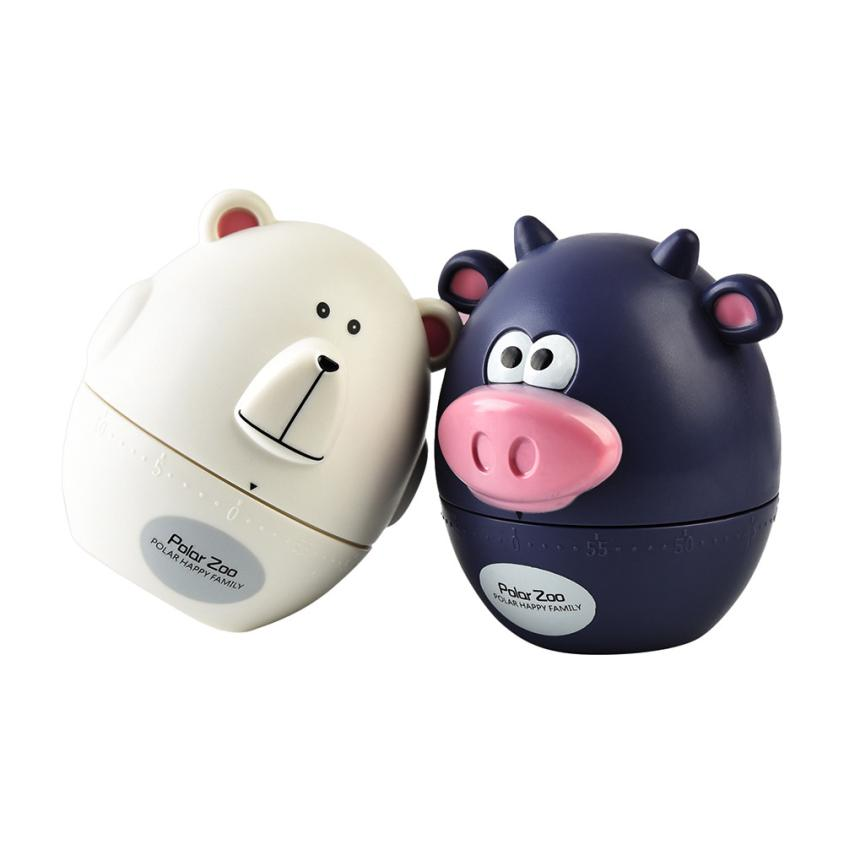 Polar Zoo Pig Kitchen Timer Cute Cooking Gadget Tool Fun Collectible