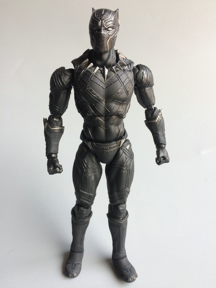 Captain America Civil War Black Panther SHF Figure 17CM PVC Collection Model Black Panther Toy For Gift
