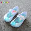 Girls Princess Jelly Shoes Mini sed Cartoon Children Sandals Transparent Snowflake Kids Anna Elsa Shoes