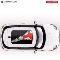 Mini Sunroof Sticker Graphics Oblique UK Flag For Mini Cooper clubman countryman hatchback R50 R53 R55 R56 R60 R61 F54 F55 F56