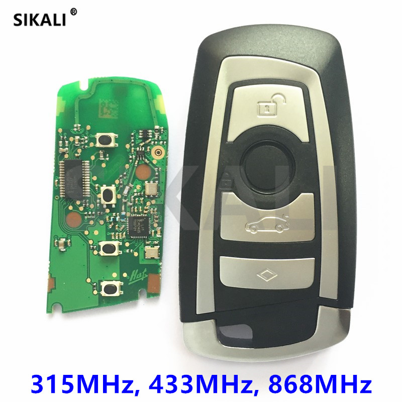 315Mhz 433Mhz 868Mhz CAS4 Car Smart Remote Key Keytless Entry For BMW 1 3 5 7 Series 523 528 535 550 318 320 325 328 330