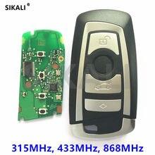 Chave remota inteligente para carro, 315mhz 433mhz cas4 entrada sem chave para bmw 1 3 5 7 series 523 528 535 550 318 320 325 328 330