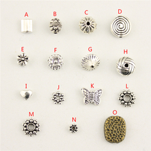 цена на 20Pcs Wholesale Bulk Jewelry Findings Components Pitting Piercing Diy Accessories Jewelry Bead For Female HK076