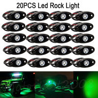 20PCS 2 9W Green LED Rock Light Under Body Wheel OffRoad Truck Trail Fender Lighting Foot