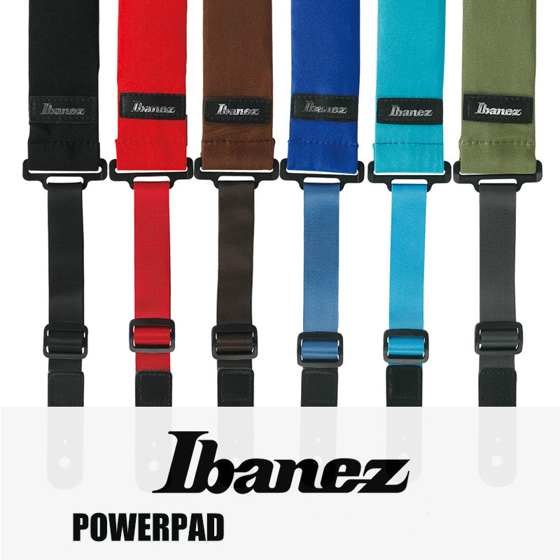 Ibanez GSF50 POWERPAD Guitar Strap for Guitar or Bass Adjustable Strap with Neoprene Pad