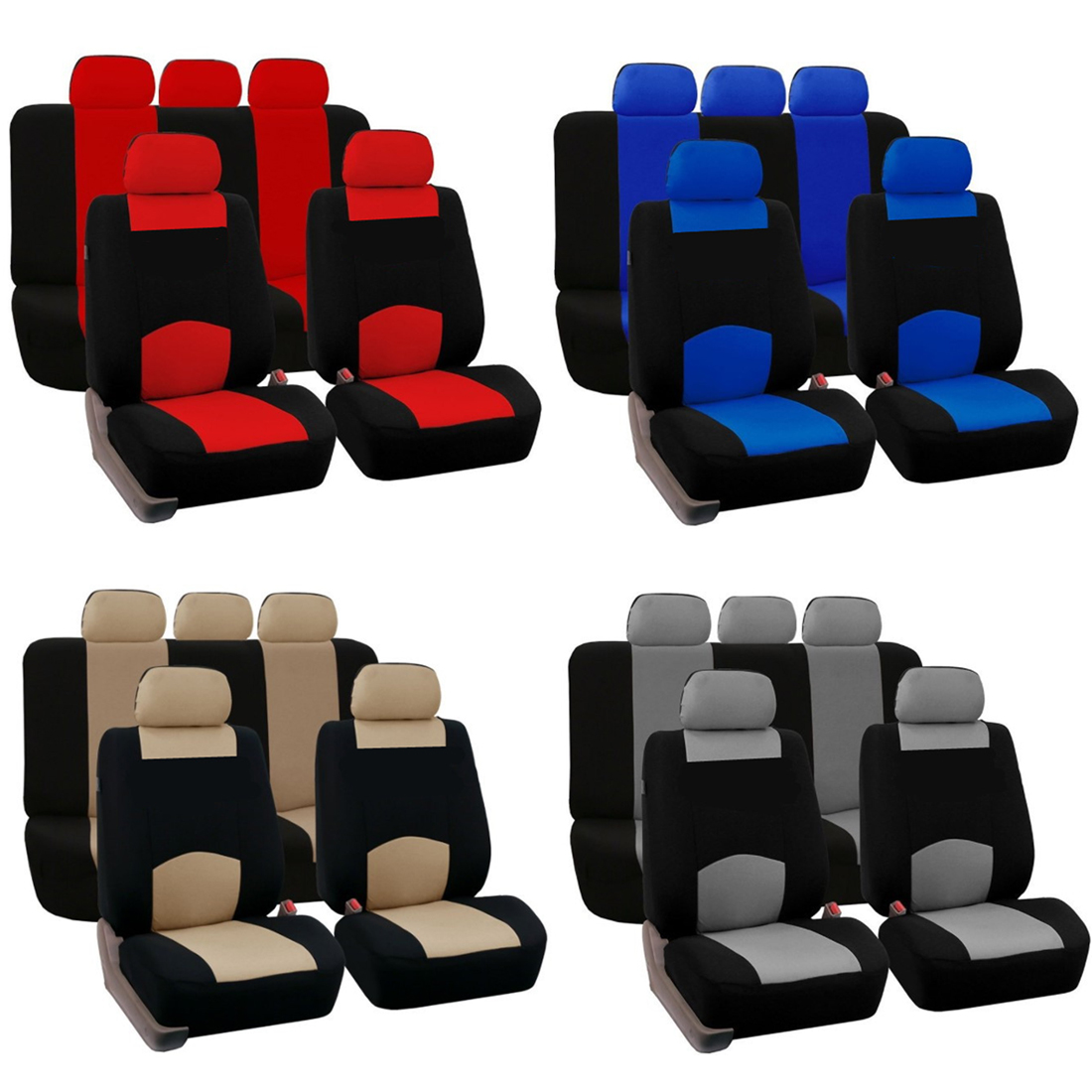 Dewtreetali Front Rear Car Seat Covers Universal Seat Protector Four Seasons Interior Accessories for VW LADA OPEL AUDI BMW 11 pc charcoal scottsdale seat covers front rear l cargo rubber mats universal