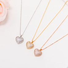 CZ Crystal Heart Pendant Necklace For Women Gold Silver Cubic Zircon Choker Luxury Gifts Wedding Party Trendy Jewelry 2019 New