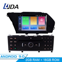 LJDA Android 9.0 Car DVD Player for MERCEDES BENZ GLK 2008 2009 2010 GPS Navigation 1 Din Car Radio Multimedia Wifi Stereo RDS