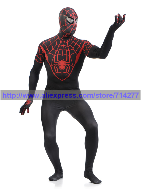 Livraison gratuite 2015 costume Spiderman noir Cool costume spiderman  spider man Lycra enfants et adultes spider man cosplay Halloween dans  Costumes animés