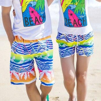 2019 Summer Quick Dry Men&Women Short Loose Shorts Surf Beach Runing Pants Lovers Zwembroek Heren Boardshorts de Bain Homme