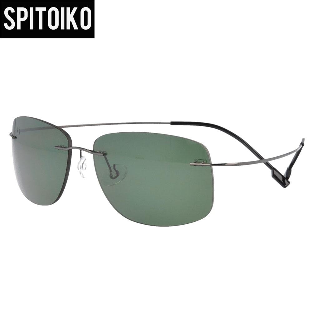 SPITOIKO polarizované sluneční brýle metal bez ráfku pro muže a ženy, rychlé dodání PC001