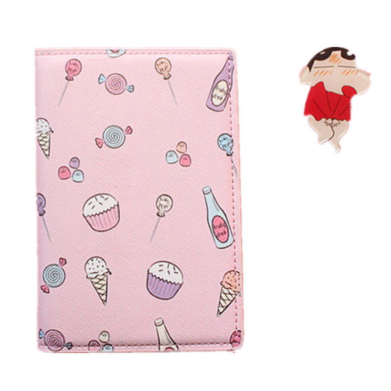 Cartoon Women card Holder PU ID Credit Travel Wallet Case women Ticket Pouch Packages Passport Cover Organizer Clutch Money Bag