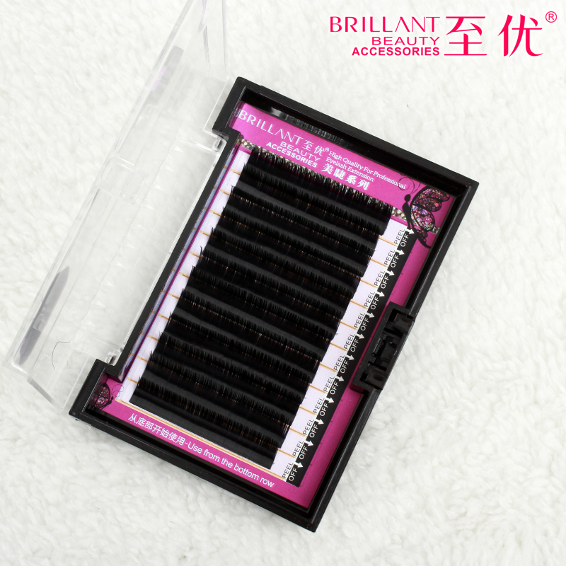 2016 Soft Mink Eyelashes B C J Curl 0.1 thickness Fake False Lashes High Quality Individual Makeup Eyelash Extention