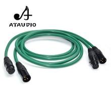 ATAUDIO 2328 Hifi посеребренный 2XLR кабель высокого качества 6N OFC HIFI XLR штекер-Женский аудио кабель