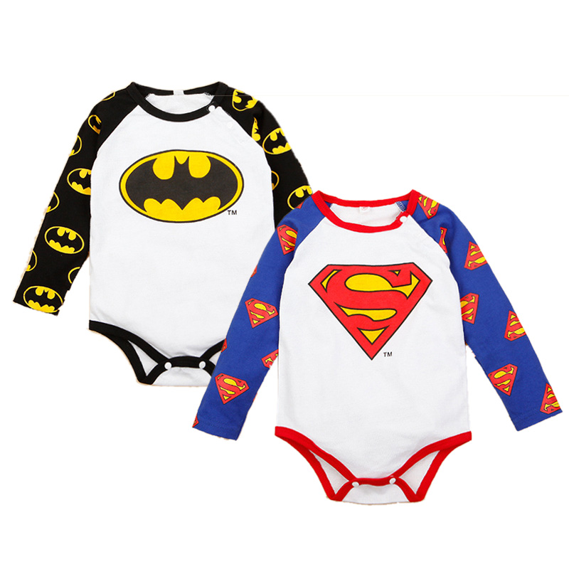Newborn Baby Romper Cotton Long Sleeve Baby Boy Clothes Super Hero Cos Baby Jumpsuits Roupas Bebe Autumn Toddler Boys Costume cotton baby clothing long sleeve baby romper girls boys clothes roupas de bebe infantil newborn costumes rompers jumpsuits set