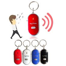 Creative Voice Control Whistle Finder Keychain Audio Sensor Alarm Flash Electronic Key Ring LED Gift Chain Trinket D2435