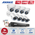 ANNKE  8CH 1080P Security DVR Recorder 8x HD 1920TVL 2.0MP 1080P HD-TVI Surveillance Cameras  System ES in stock