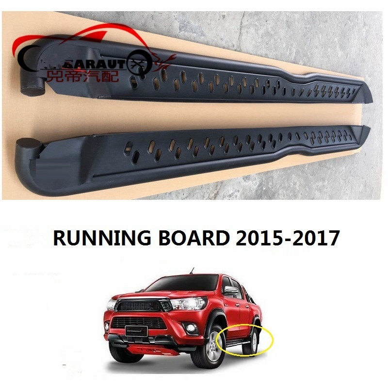 CITYCARAUTO CAR ACCESSORIES EXTERIOR AUTO PARTS Nerf Bars ALLOY RUNNING BOARD FIT FOR TOYTA HILUX REVO PICKUP CAR 2015-2017CITYCARAUTO CAR ACCESSORIES EXTERIOR AUTO PARTS Nerf Bars ALLOY RUNNING BOARD FIT FOR TOYTA HILUX REVO PICKUP CAR 2015-2017