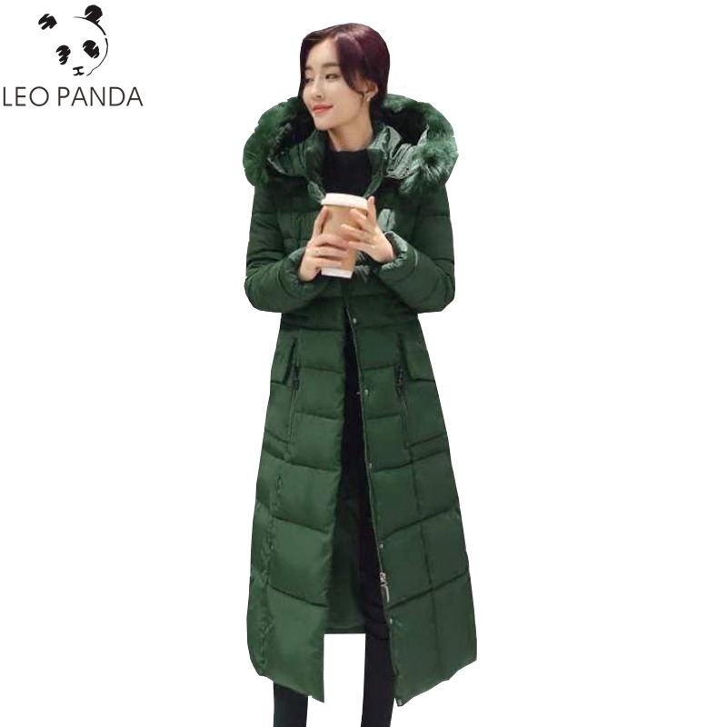 새로운 겨울 숙녀 면화 재킷 아래로 2018 패션 긴 짙어지면서 따뜻한 패딩 파카 후드 슬림 빅 야드 여성 코트 lxt731-에서파카부터 여성 의류 의  그룹 1