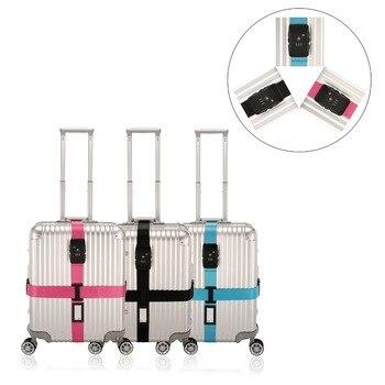 0c3e8b7fe TSA bloqueo ajustable de calidad superior correa de equipaje para la maleta  con 3 dígitos contraseña Cruz correa del equipaje maleta embalaje