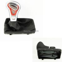 Chrome Leather Shift Knob BLACK For AUDI A4L Q5 2008 A6L 2012 Q7 A7 Modified