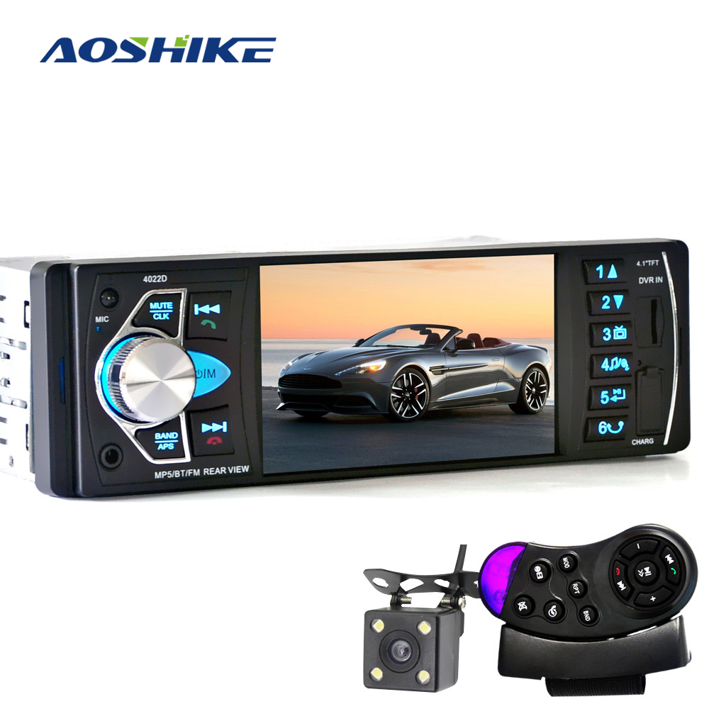 AOSHIKE Car HD 4.1 Inch Bluetooth MP5 Player Reversing Priority FM Radio Card Machine With Steering Wheel Remote Control Review
