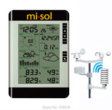Professional Wireless Weather Station with PC connection, weather forecast, wind speed, rain guage