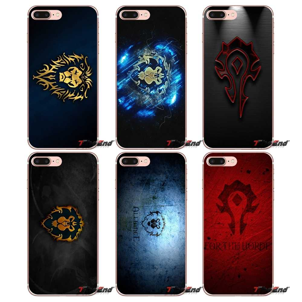 Singa World of Warcraft WOW TPU Kasus Meliputi Untuk iPhone X 4 4 S 5 5 S 5C SE 6 6 S 7 8 Plus Samsung Galaxy J1 J3 J5 J7 A3 A5 2016 2017